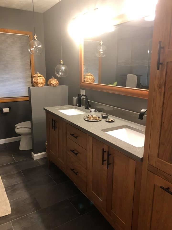 bathroom remodel, custom, tile, walk-in shower, niche